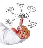Diagram of networking — Stock Photo