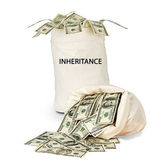 Bag with inheritance — Stock Photo