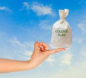 Plán školy jako dárek — Stock fotografie