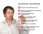 Checklist for starting business — Stock Photo