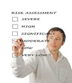 Evaluation of risk level — 图库照片