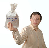 Bag with capital tax — Stock Photo