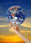 Planet earth as symbol of nature conservation.Elements of this i — Stock Photo
