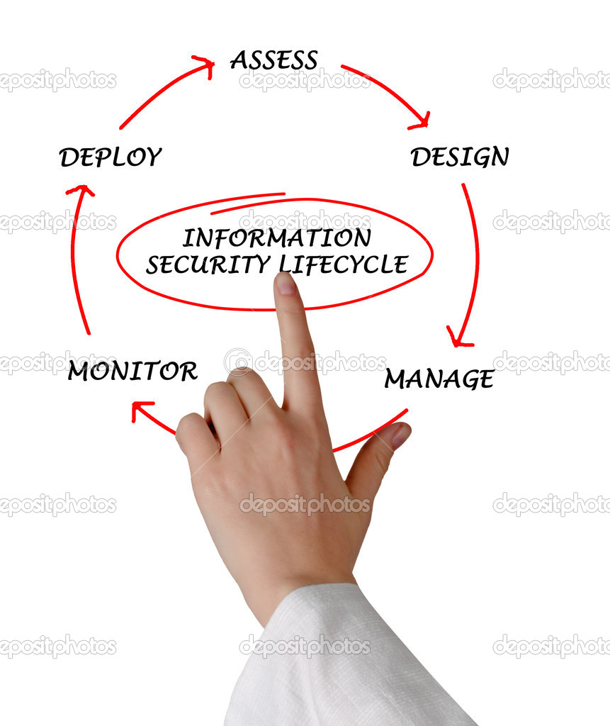 Diagram of information security lifecycle  Stock Photo #9281090