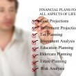 checklist for financial plans — Stock Photo #9379676