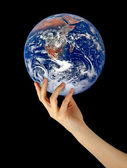 Planet Earth in hand — Stock Photo