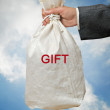 Bag with gift — Stock Photo