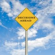 Stock Photo: Road sign to decisions