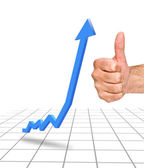 A businessman with a chart — Stock Photo