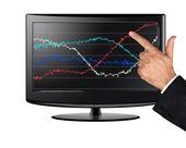 Visas med diagram — Stockfoto