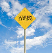 Road signs to green living — Stock Photo