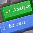 Hot keys for analyze and execute — Stock Photo #9684191