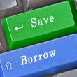 Hot key for save and borrow — Foto Stock