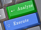 Hot keys for analyze and execute — Stock Photo