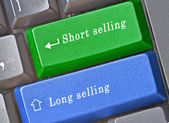 Hot keys for long and short selling — Stock Photo