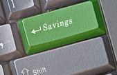 Hot key for savings — Stock Photo