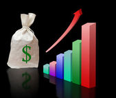 Metaphor of economical growth — Stock Photo