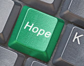 Key for hope — Stock Photo