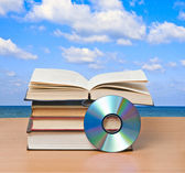Books and dvd — Stock Photo