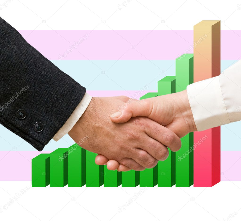 Handshaking man and woman — Stock Photo #9718669