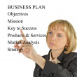 Presentation of  business plan — Stock Photo #9727031