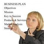 Presentation of business plan — Stock Photo #9727031