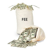 Bag with fee — Stock Photo