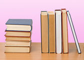 Books on desk — Stock Photo