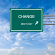Foto Stock: Road sign to change