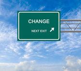Znak drogowy do zmiany — Zdjęcie stockowe