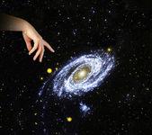 Wskazując na naszych galaxy.elements to zdjęcie dostarczone przez nasa — Zdjęcie stockowe