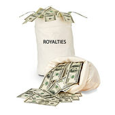 Bag with royalties — Stock Photo