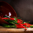 Red and green chili pepper — Stock Photo #10063077
