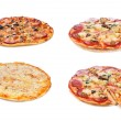 Set with different pizza — Stock Photo #10351099