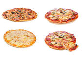 Set with different pizza — Stock Photo