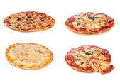 Set med olika pizza — Stockfoto