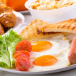 Breakfast with fried eggs — Stock Photo #10542779