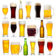 Set with different beer — Stock Photo #10542802