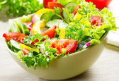Salad with vegetables — 图库照片