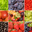 Collection of different fruits, berries and vegetables - Stock Photo