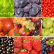Collection of different fruits, berries and vegetables - Foto Stock