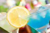 Blauw curacao cocktail — Stockfoto