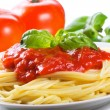pasta with tomato sauce — Stock Photo