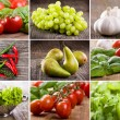 Collage with different fruits and vegetables — Stock Photo #8920679