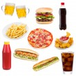 Set with fast food products — Stock Photo #8920689