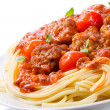 Pasta with meatballs and tomato sauce — Stock Photo #8920732