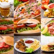 Collage of fast food — Foto Stock