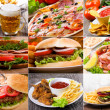 Collage of fast food - Lizenzfreies Foto