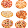 Set with different pizza — Stock Photo #9131644