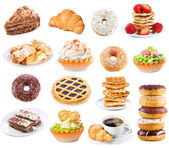 Set with different sweet products — Stock Photo